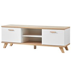 Assez bonne hauteur et design: - Assez de place pour apple tv, xbox au milieu - Rangements