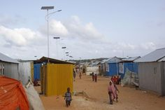 Solar-powered lights in Somalia refugees camp help protect against night-time sex attacks