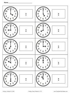 First Grade Math Telling Time Teaching Time, Teaching Math, Maths, Math Classroom, Kindergarten Math, Math Resources, Math Activities, Math Clock, Math Measurement