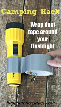 Wrap Duct Tape around flashlight