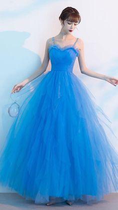 Blue Evening Dresses, A Line Prom Dresses, Homecoming Dresses, Bridal Dresses, Blue Dresses, Bridesmaid Dresses, Net Dresses, Pretty Dresses, Beautiful Dresses
