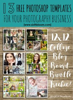 FREE photoshop templates, mini session templates, photography business tips