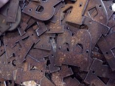 Metal Rustic Letters - ORDER as many letters as you need - 2 inch on Etsy, $1.75