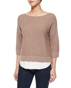 Symphorienne Twofer Shirttail Sweater by Joie at Neiman Marcus.