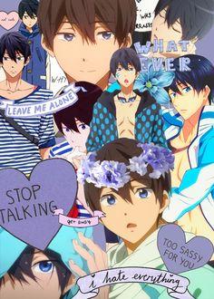 Iwatobi's swimming hotties — Daily dose of Haruka Nanase or as for today – … Animes Wallpapers, Cute Wallpapers, Phone Wallpapers, Manga Tumblr, Vocaloid, Nagisa Free, Haruka Nanase, Makoharu, Otaku