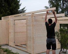 Gartenhaus: Eine Aufbaugeschichte in Bildern Wooden Gazebo, Wooden Sheds, Home Garden Design, Backyard Garden Design, Backyard Sheds, Backyard Bbq, Summer House Garden, Home And Garden, Shed Cabin