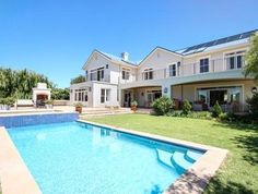 How scenic is this pool in Upper Real Estate Business, Online Business, 4 Bedroom House, Cape Town, Luxury Homes, South Africa, Mansions, House Styles, Outdoor Decor