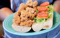 Oyster Po'boy:  Whether or not you observe Lent, Fat Tuesday is a great excuse for an indulgent New Orleans-style feast featuring everything from colorful king cake to crawfish étouffée, gumbo, and bananas Foster.
