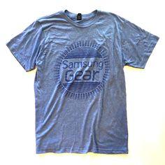 Samsung Gear Watch Tech Computer Logo Tri Blend T-Shirt Shirt Mens Medium Blue  | eBay