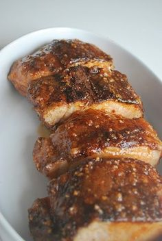 Brown Sugar Spiced Pork Tenderloin - we're having this for dinner tonight!