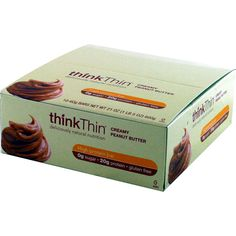 Think Thin Bar Creamy Peanut Butter 10 ct | Regular Price: $21.90, Sale Price: $21.99 | OvernightSupplements.com | #onSale #supplements #specials #ThinkThin #ProteinBars  | Made with creamy peanut butter and cocoa this delicious high protein bar is covered in delicious milk chocolate to satisfy any craving With 20 grams of protein and zero grams of sugar this tasty bar is entirely gluten free Due to temperature conditions in the Summer this product may melt during the shippin