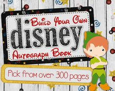Disney Autograph Book  - Custom Disneyland and Disney World Digital Autograph Book - Disney Cruise, Scrapbook Style for Disney Vacation - pinned by pin4etsy.com