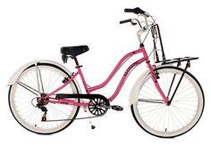 Beachcruiser Damen, KS Cycling, »Melba«, rosa, 26 Zoll 6 Gang Shimano Tourney, V-Brakes