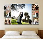 one place i could get photos printed on canvas they have thin canvas wraps ..209.00 for collage