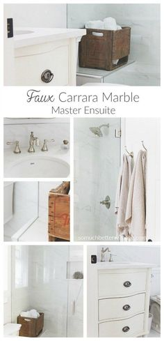 Faux Carrera Marble