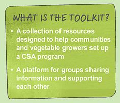 CSA toolkit - developed for Tasmanians and useful for anyone interested in setting up a CSA