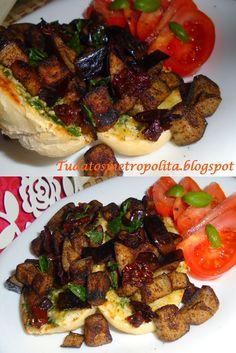 Padlizsános szendvics (gyros fűszerrel)