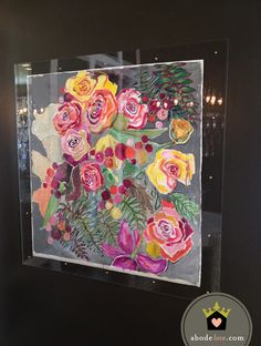Lucite Framed Original Art From Laurel Dawn.  In love with this.