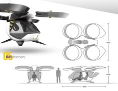 The combination of autonomous systems and multicopters made it possible to create an unmanned flying vehicle. The modular structure allows to use it for different applications. With a cabin it is an a (Drone Design) New Drone, Aerial Drone, Drone Diy, Remote Control Drone, Flying Vehicles, Flying Drones, Modular Structure, Drone Technology, Futuristic Technology