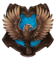 Ravenclaw is one of the four Houses of Hogwarts School of Witchcraft and Wizardry, founded by Rowena Ravenclaw. Members of this house are characterised by their wit, learning, and wisdom. Its house colours are blue and bronze, and its symbol is an eagle. The house ghost, who in life was the daughter of the house's founder Rowena Ravenclaw, is the Grey Lady.