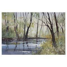 Bring gallery-worthy appeal to your walls with this artful canvas giclee print, showcasing a serene landscape motif.  Product: C...