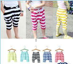 Boys and girls cotton yarn-dyed striped boy pants harem pants 2014 new summer  children  pants  $32.31/lot