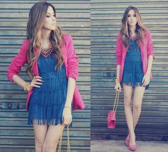 Pink & blue (by Flávia Desgranges van der Linden) http://lookbook.nu/look/3832875-pink-blue
