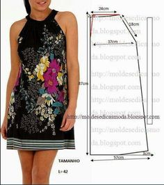 New diy summer dress pattern moda ideas Easy Sew Dress, Diy Dress, Diy Clothing, Sewing Clothes, Dress Sewing Patterns, Clothing Patterns, Summer Dress Patterns, Simple Dresses, Summer Dresses