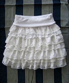 lace skirt tutorial~ love this one:)