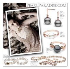 """""""Pearl Paradise"""" by oshint ❤ liked on Polyvore featuring ELSE, pearljewelry and pearlparadise"""