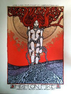 GigPosters.com - High On Fire - Bison Bc - Black Cobra