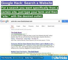 Google - Google Hack: Search a Website