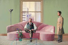 Portrait of Henry Geldzahler and Christopher Scott by David Hockney (British), acrylic on canvas, genre: Pop Art, 1969 David Hockney Portraits, David Hockney Art, David Hockney Paintings, Robert Rauschenberg, Claude Monet, Andy Warhol, Pop Art, Metropolitan Museum, Pablo Picasso