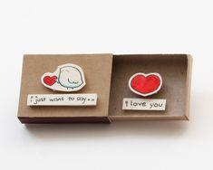 Süße Liebe Karte / Hochzeitstag / Matchbox / Jahrestag von shop3xu