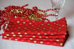 These festive cloth napkins are perfect for next year's holidays! Cloth napkins come in so many styles! Don't forget to dry clean them so they last longer! Call White Way Dry Cleaners today! #whitewaydrycleaners #whitewaycleaners #whiteway #drycleaners #cleaningtips #clothnapkins #cloth #napkins #ecofriendly #homedecor #tablesetting #linens #connecticut #ct #cleaningfyi #didyouknow