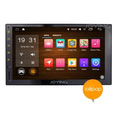 JOYING 7 Stereo Car Android 5.1 Quad Core 1024x600 In dash Touch Screen Head Unit Double 2 Din Android Aftermarket Radio Auto GPS Navigation Mirror WiFi 1080P Car Tablet Audio Receiver with Bluetooth