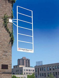 This is a really clever example of guerrilla marketing from Benjamin Moore Paints. Creative Advertising, Guerrilla Advertising, Out Of Home Advertising, Advertising Design, Ads Creative, Advertising Campaign, Creative Posters, Street Marketing, Guerilla Marketing