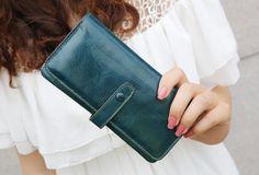 Genuine leather wallet women wallet womens purse by ohyescostume, $34.90