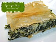 Spanakopita Recipe - Greek Spinach Pie