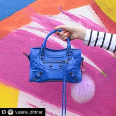#Repost @valerie_dittner with @repostapp.  I'm feeling classic shapes in BOLD colors for 2016  @liketoknow.it www.liketk.it/24knW #liketkit #ltkstyletip #balenciagaminicity #blue #fashionblogger #2016 #fblogger #styletip #instagood #handbag #balenciaga #realoutfitgram @the_real_outfit  by @laphotoz #yogastudio55 @yogastudio55 #furpompomkeychain #Furbagcharm