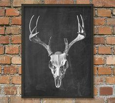 Deer Skull Antlers Poster £12