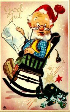Julekort Gunnar Bratlie Utg Aune stemplet 1956
