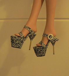 Fashion Doll Shoes: High heel platforms - step by step Photo tutorial - Bildanleitung