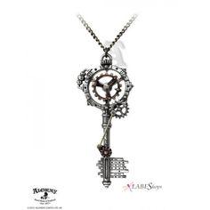Steampunk Key Tattoo Gallery   Steampunk Key Tattoo Gearwheel key necklace by