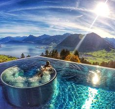 Pin for Later: 27 of the World's Most Beautiful Pools The Hotel Villa Honegg in Switzerland