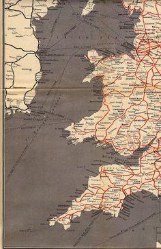 The 1956 British Railways Passenger Network Map Devon And Cornwall, Travel Uk, Cartography, Infographics, Flags, Trains, British, Map, Tools