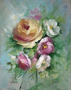 David Jansen - Yellow Rose and Blossoms