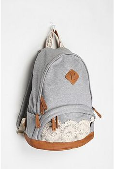 school bag. Urban Outfiters. But you could totally DIY this