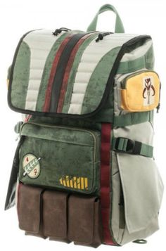 Star Wars  Boba Fett Laptop Backpack Officially Licensed Star Wars Products  Polyester Adjustable Padded Straps - One Size Fits Most Includes Laptop ... 24ed209163