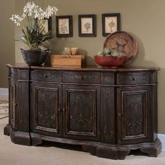 how to decorate a credenza - Google Search